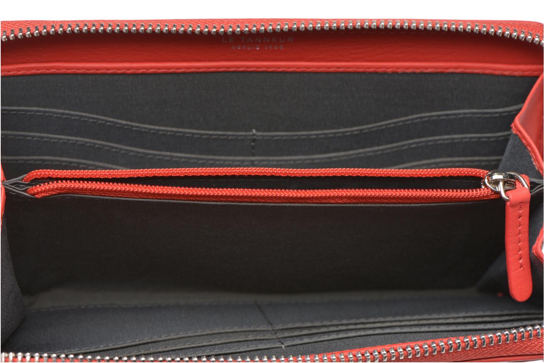 Petite Maroquinerie Le Tanneur VALENTINE Porte-monnaie long zippé Rouge vue derrière