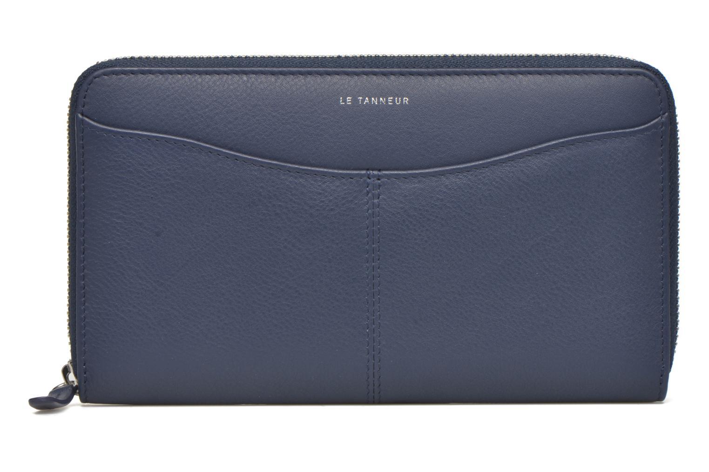 Petite Maroquinerie Le Tanneur VALENTINE Porte-monnaie long zippé Bleu vue détail/paire