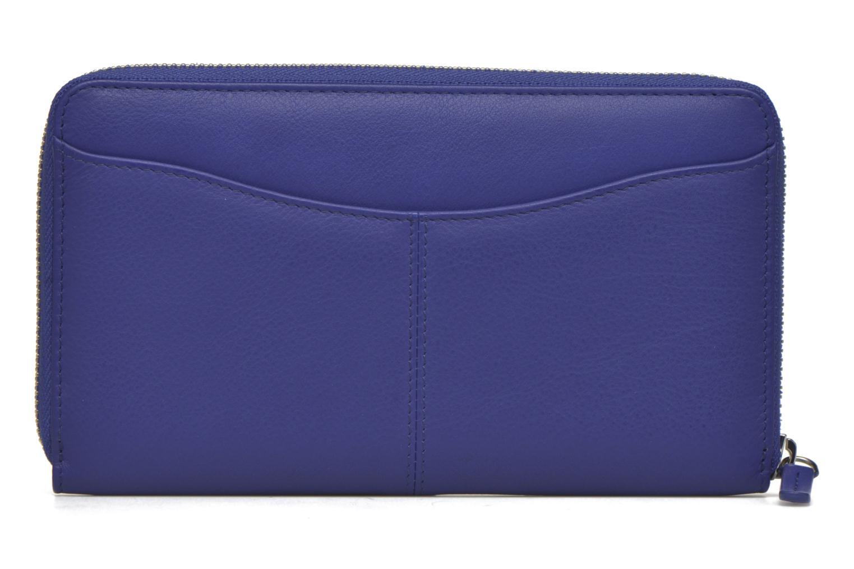 Petite Maroquinerie Le Tanneur VALENTINE Porte-monnaie long zippé Bleu vue face