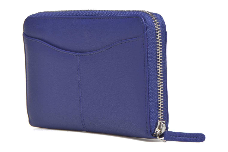Petite Maroquinerie Le Tanneur VALENTINE Porte-monnaie long zippé Bleu vue droite