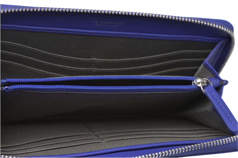 Petite Maroquinerie Le Tanneur VALENTINE Porte-monnaie long zippé Bleu vue derrière