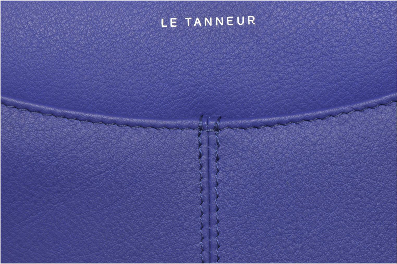 Petite Maroquinerie Le Tanneur VALENTINE Porte-monnaie long zippé Bleu vue gauche