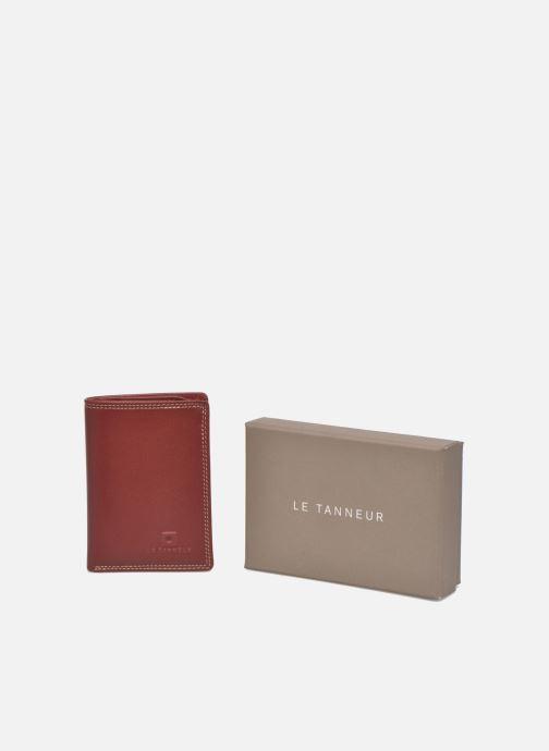 Petite Maroquinerie Le Tanneur TOURAINE Porte-cartes et billets Rouge vue détail/paire