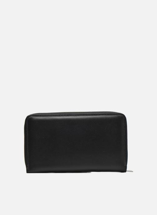 Marroquinería pequeña Le Tanneur TOURAINE Compagnon zippé poche monnaie Negro vista de frente