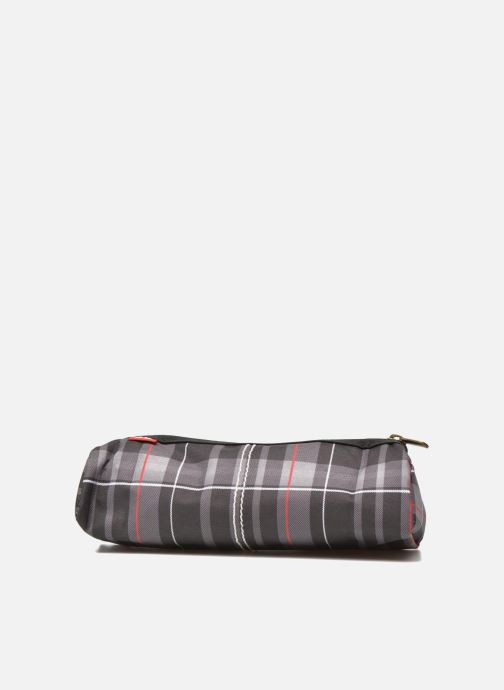 School bags Poids Plume Trousse triangle tartan Grey front view