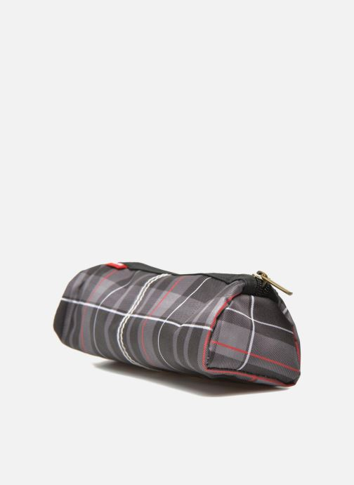School bags Poids Plume Trousse triangle tartan Grey view from the right