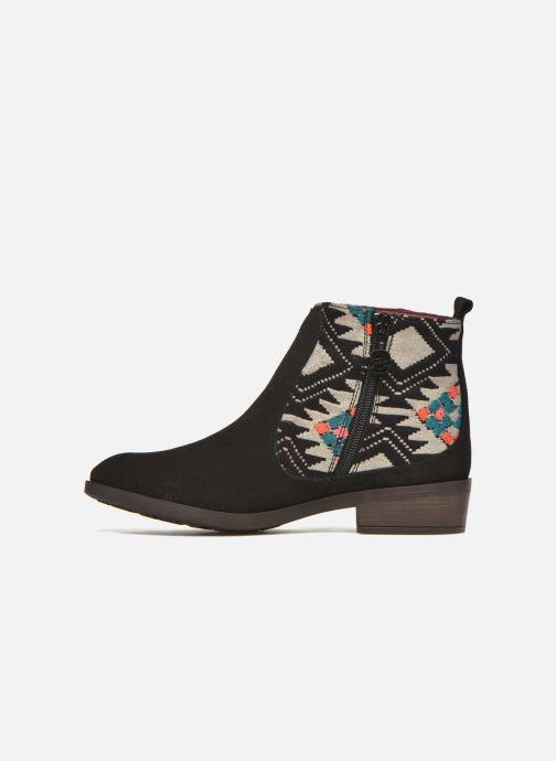 Bottines et boots Desigual Indian boho Noir vue face