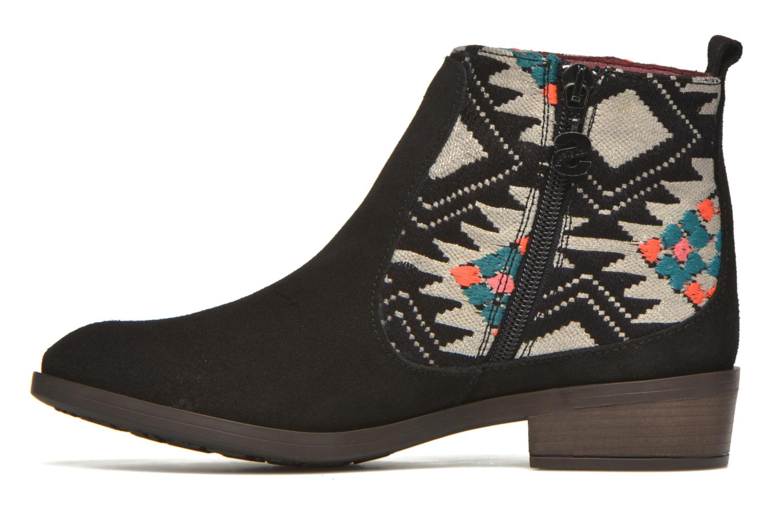 Bottines et boots Desigual Indian boho Noir vue face