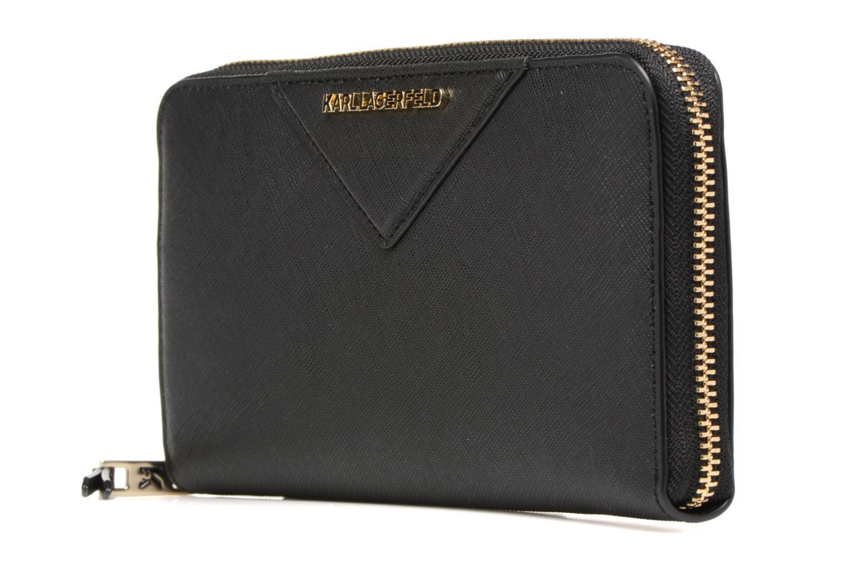 Petite Maroquinerie KARL LAGERFELD Klassic Wallet Noir vue portées chaussures