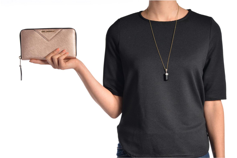 Petite Maroquinerie KARL LAGERFELD Klassic Wallet Noir vue haut