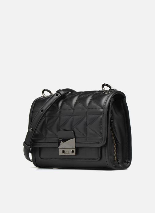 Handtassen KARL LAGERFELD Kuilted Mini Handbag Zwart model