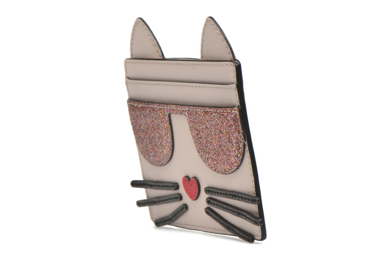 Petite Maroquinerie KARL LAGERFELD Kocktail Cat Beige vue portées chaussures