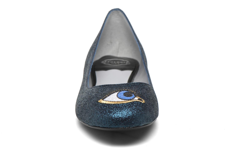 Ballerines Apologie Ballerina beaux yeux Bleu vue portées chaussures