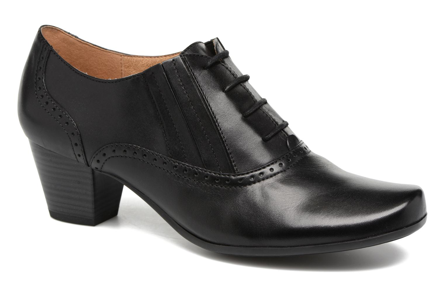 Lace-up shoes Caprice Shante Lace boot Black detailed view/ Pair view