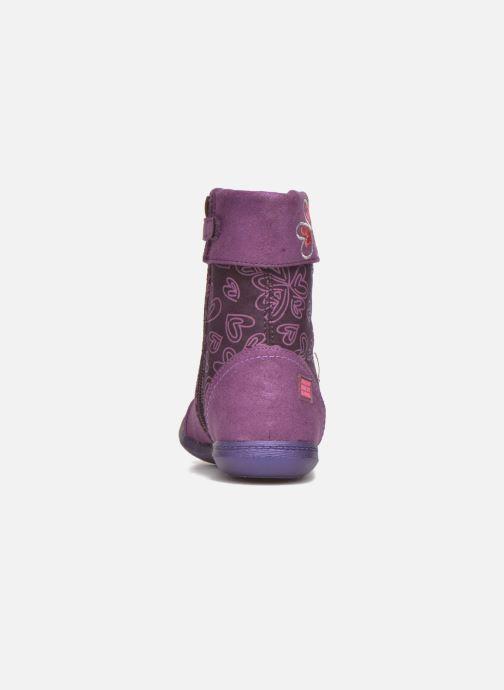 Boots & wellies Agatha Ruiz de la Prada Clever Boots 2 Purple view from the right
