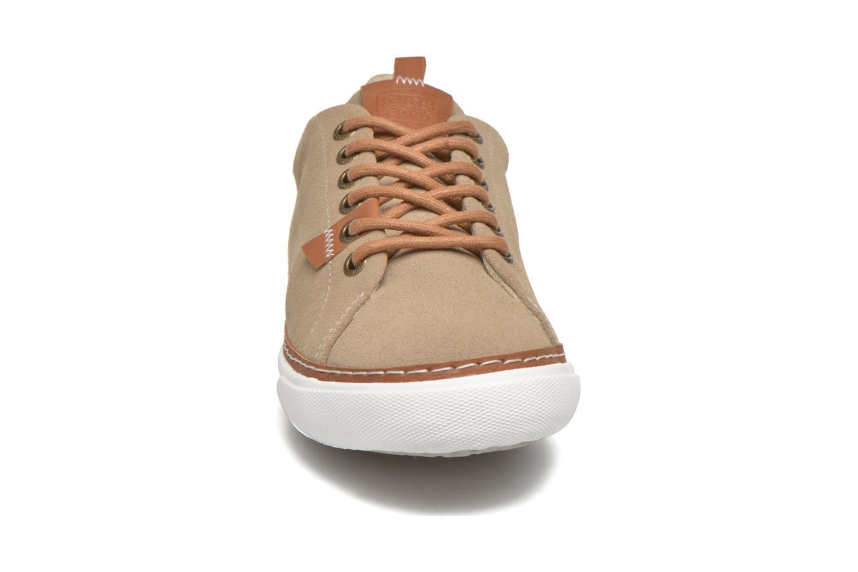Baskets Gioseppo Harrison Beige vue portées chaussures