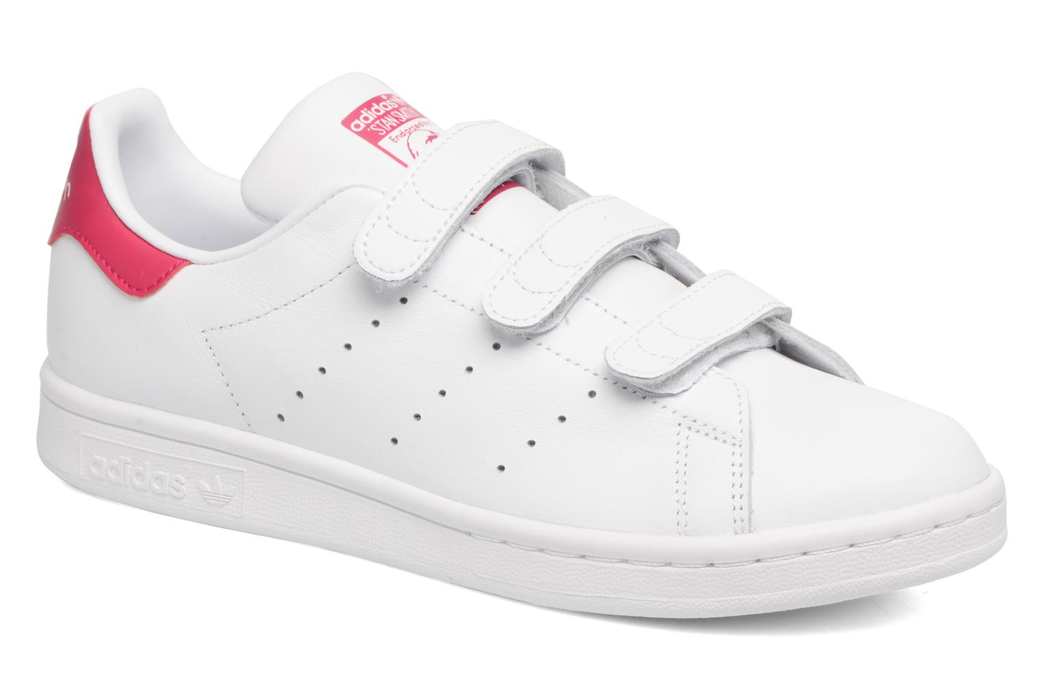 Baskets Adidas Originals Stan Smith Cf J Blanc vue détail/paire