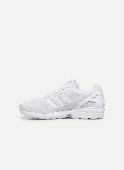 Sneaker adidas originals Zx Flux J weiß ansicht von vorne