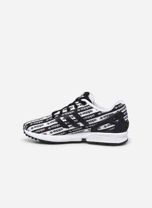 Sneaker adidas originals Zx Flux J schwarz ansicht von vorne