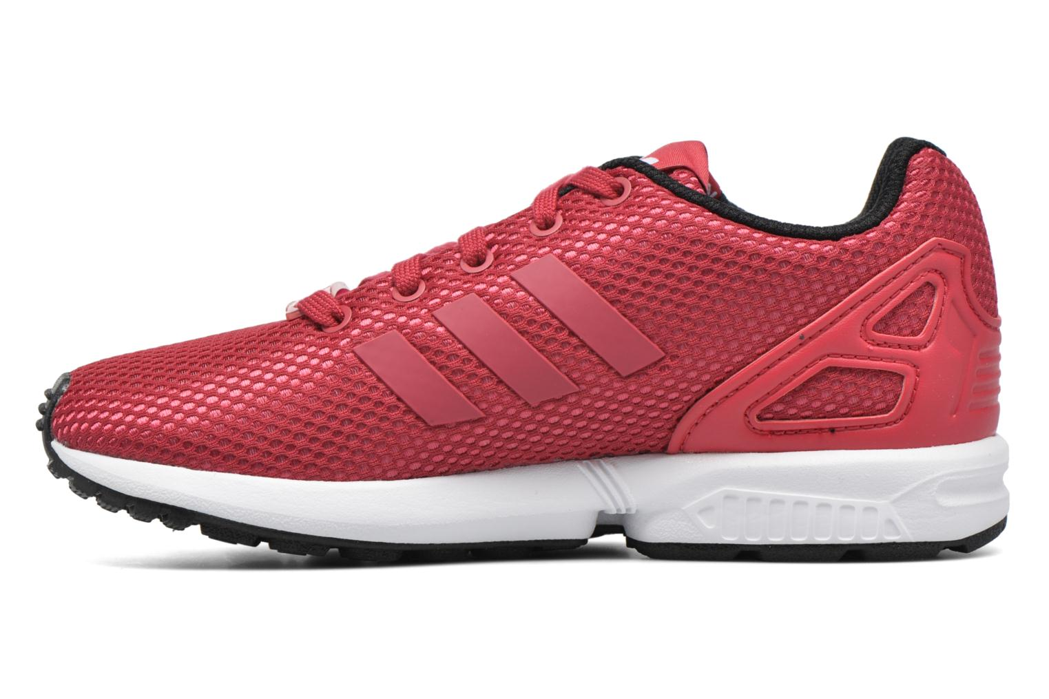 Baskets Adidas Originals Zx Flux C Rouge vue face