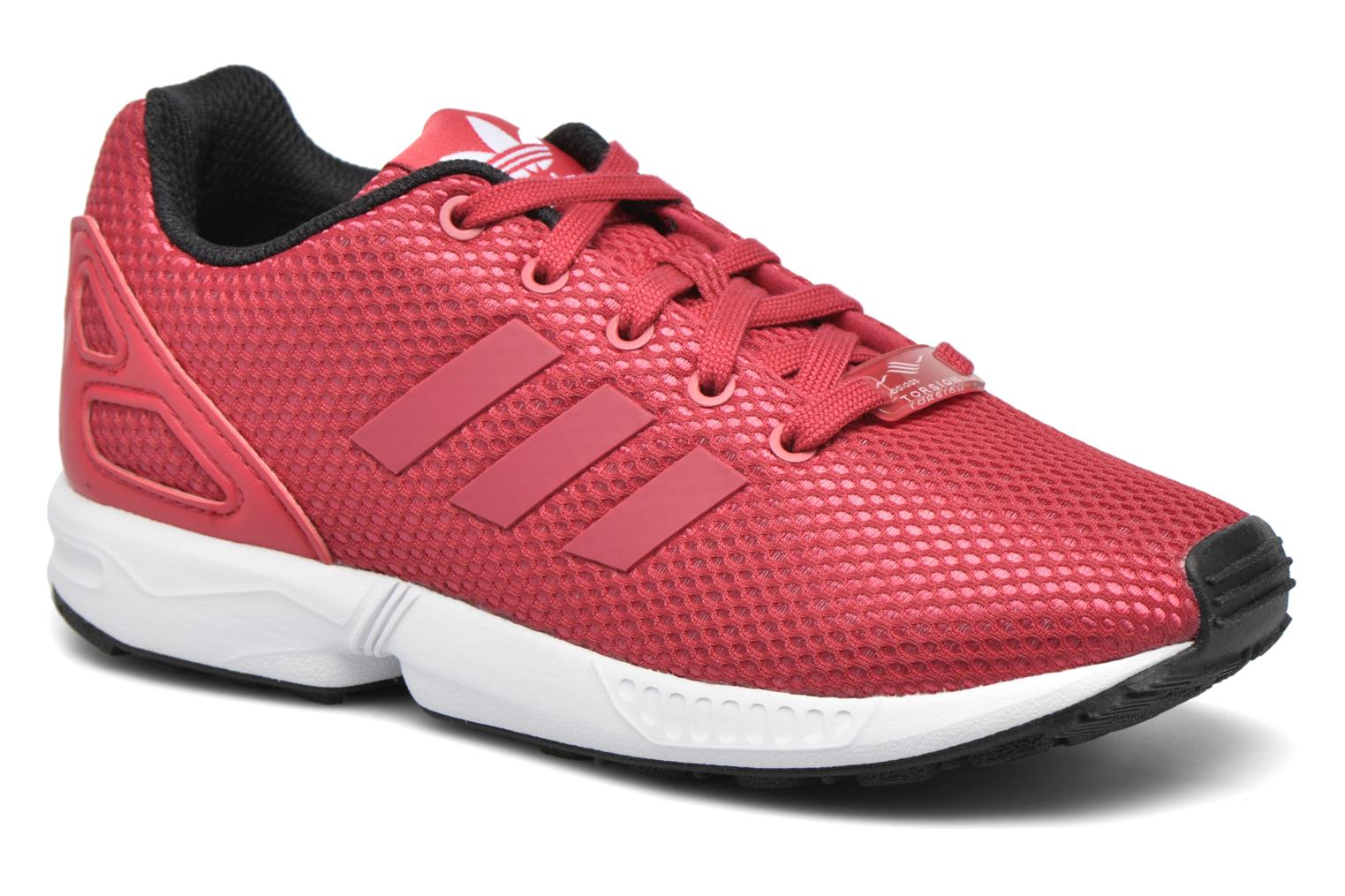 Baskets Adidas Originals Zx Flux C Rouge vue détail/paire