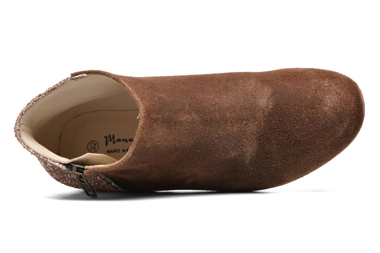 Bottines et boots Manuela de Juan Jenifer Marron vue gauche
