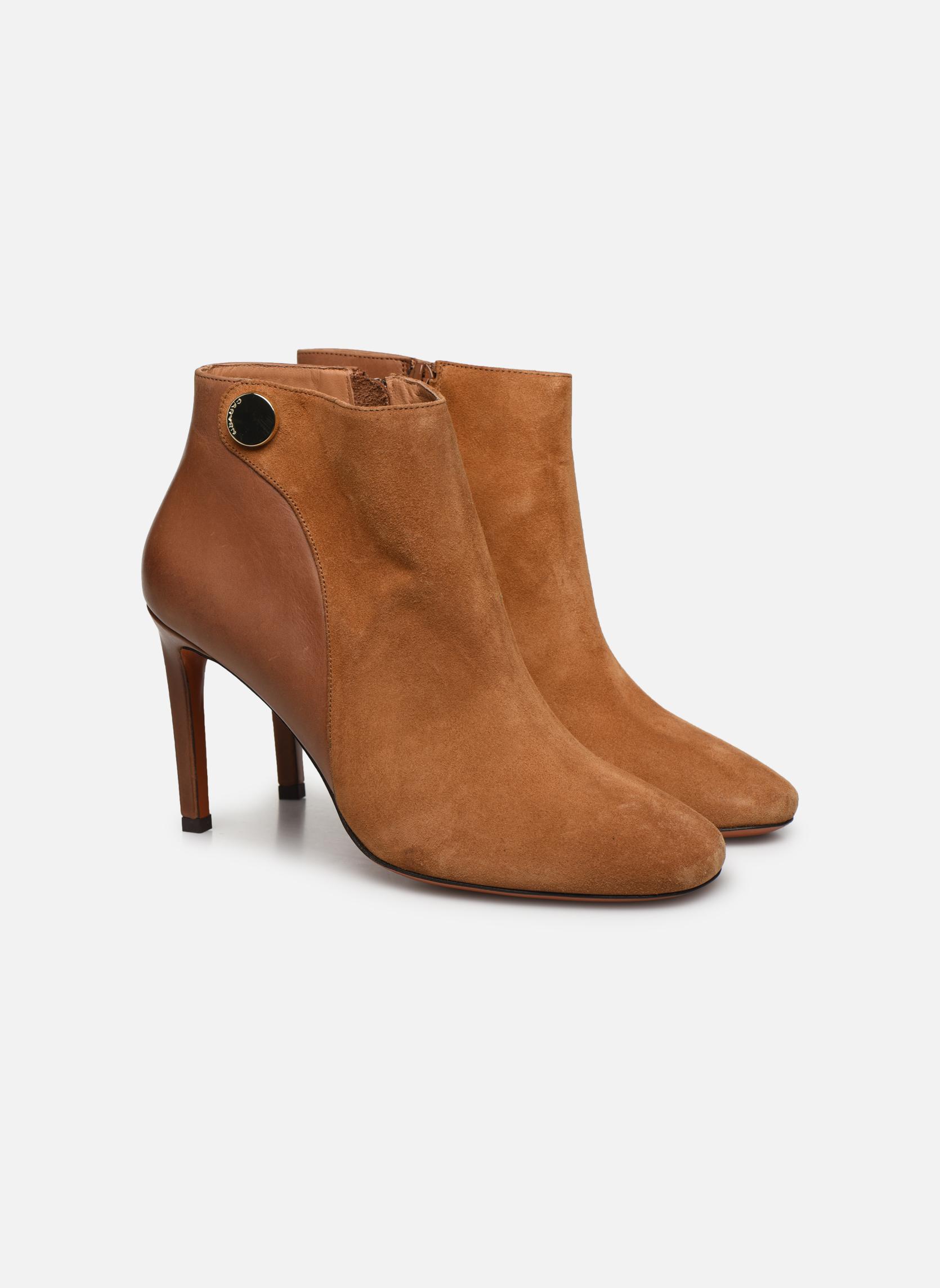 Bottines et boots Carven Bottines Resonnance Marron vue 3/4
