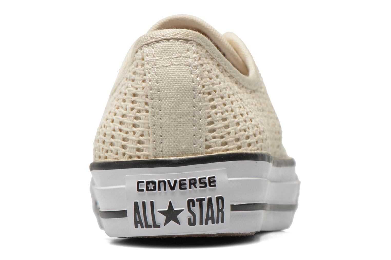 Sneakers Converse Chuck Taylor All Star High Line Ox Beige immagine destra