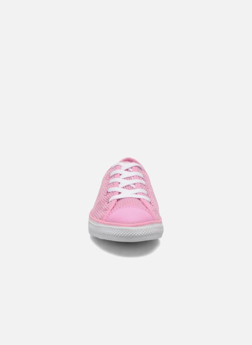 Baskets Converse Chuck Taylor All Star Dainty Ox W Rose vue portées chaussures
