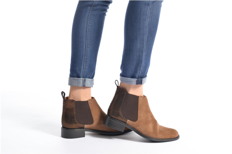 Bottines et boots Georgia Rose Celadon Noir vue bas / vue portée sac
