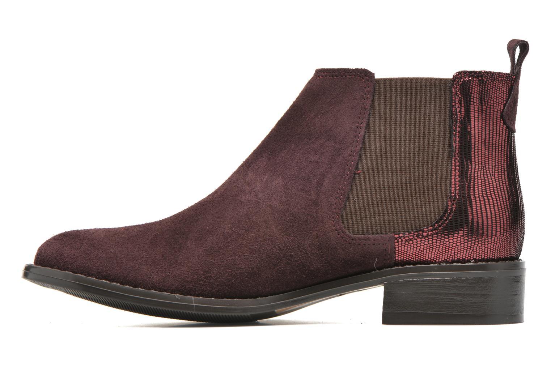 Bottines et boots Georgia Rose Celadon Bordeaux vue face