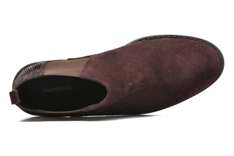 Bottines et boots Georgia Rose Celadon Bordeaux vue gauche