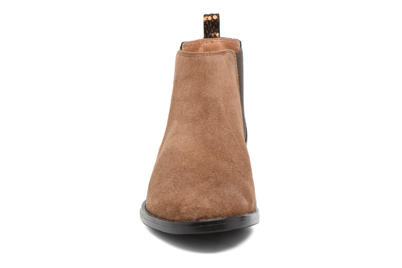 Bottines et boots Georgia Rose Celadon Beige vue portées chaussures
