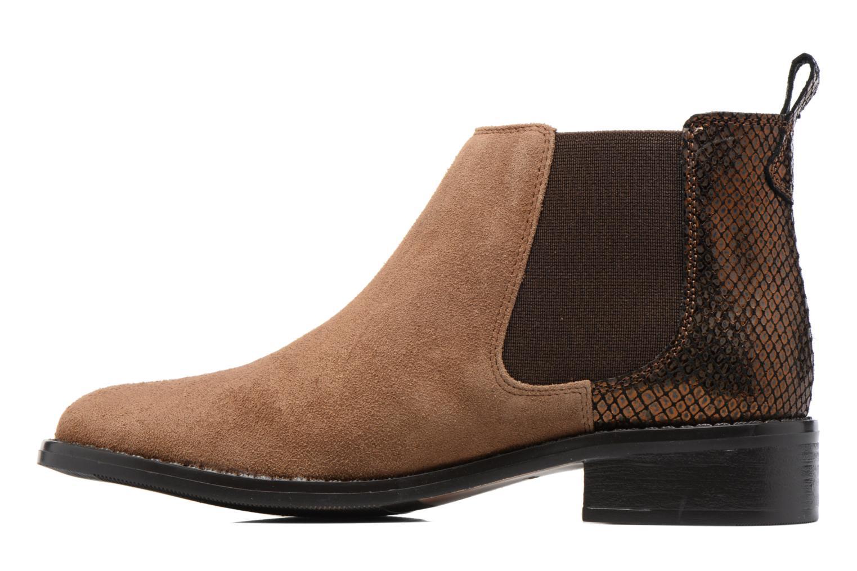 Bottines et boots Georgia Rose Celadon Beige vue face