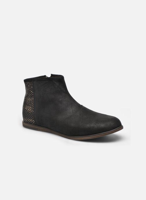 Boots en enkellaarsjes Achile Julie Zwart detail