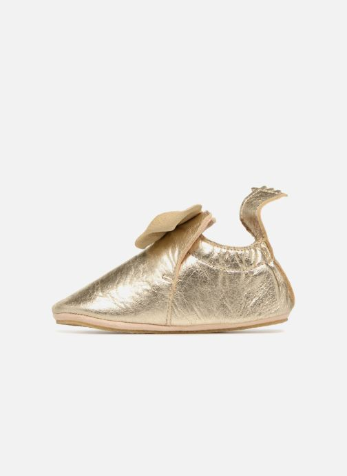 Slippers Easy Peasy Blublu Nœud Bronze and Gold front view