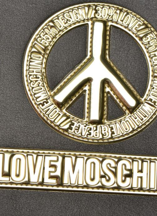Kleine lederwaren Love Moschino Ipad clutch Zwart links