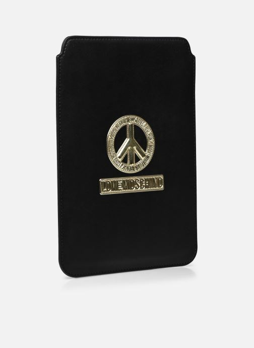 Petite Maroquinerie Love Moschino Ipad clutch Noir vue bas / vue portée sac