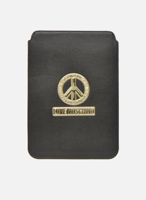 Kleine lederwaren Love Moschino Ipad clutch Zwart detail