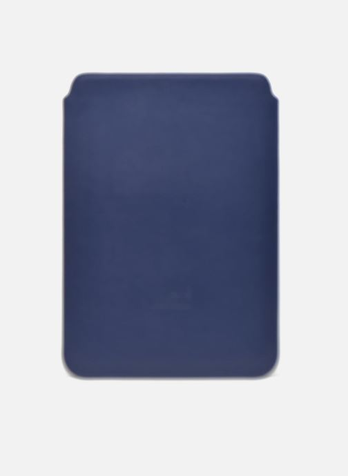 Kleine lederwaren Love Moschino Ipad clutch Blauw voorkant