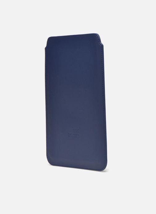 Marroquinería pequeña Love Moschino Ipad clutch Azul vista lateral derecha