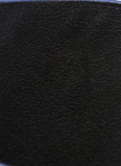 Kleine lederwaren Love Moschino Ipad clutch Blauw achterkant
