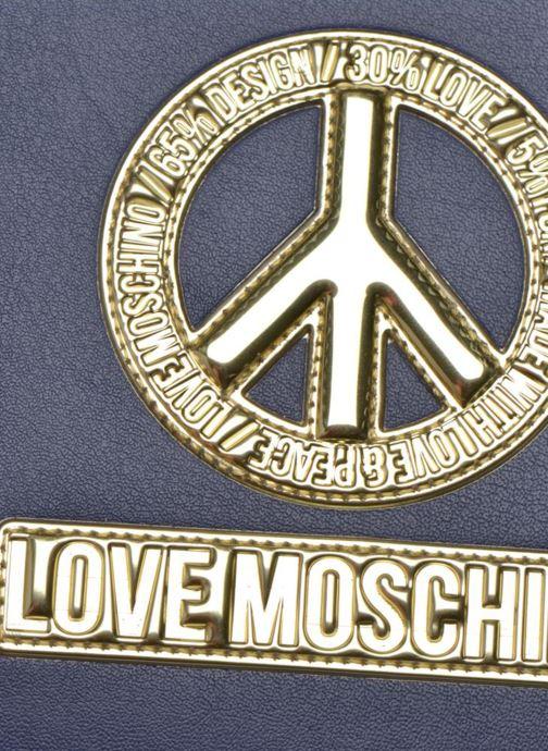 Marroquinería pequeña Love Moschino Ipad clutch Azul vista lateral izquierda