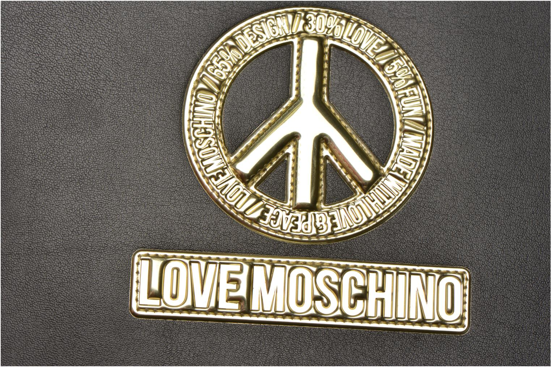 Divers Love Moschino Ipad clutch Noir vue gauche