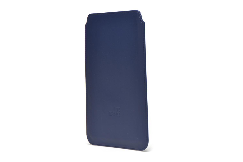 Divers Love Moschino Ipad clutch Bleu vue droite