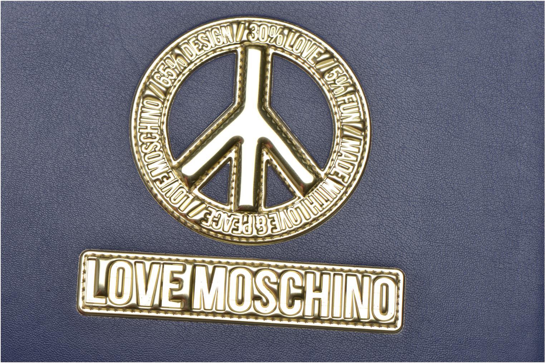 Divers Love Moschino Ipad clutch Bleu vue gauche