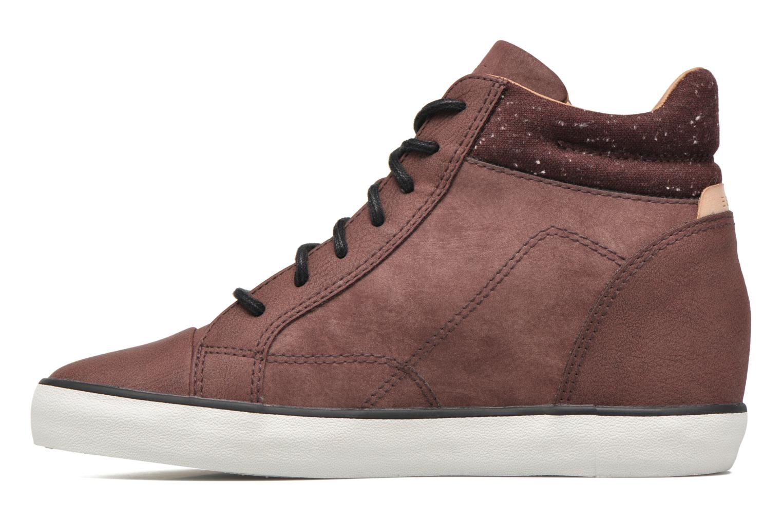 Sneakers Esprit Star Wedge 2 Bordeaux voorkant