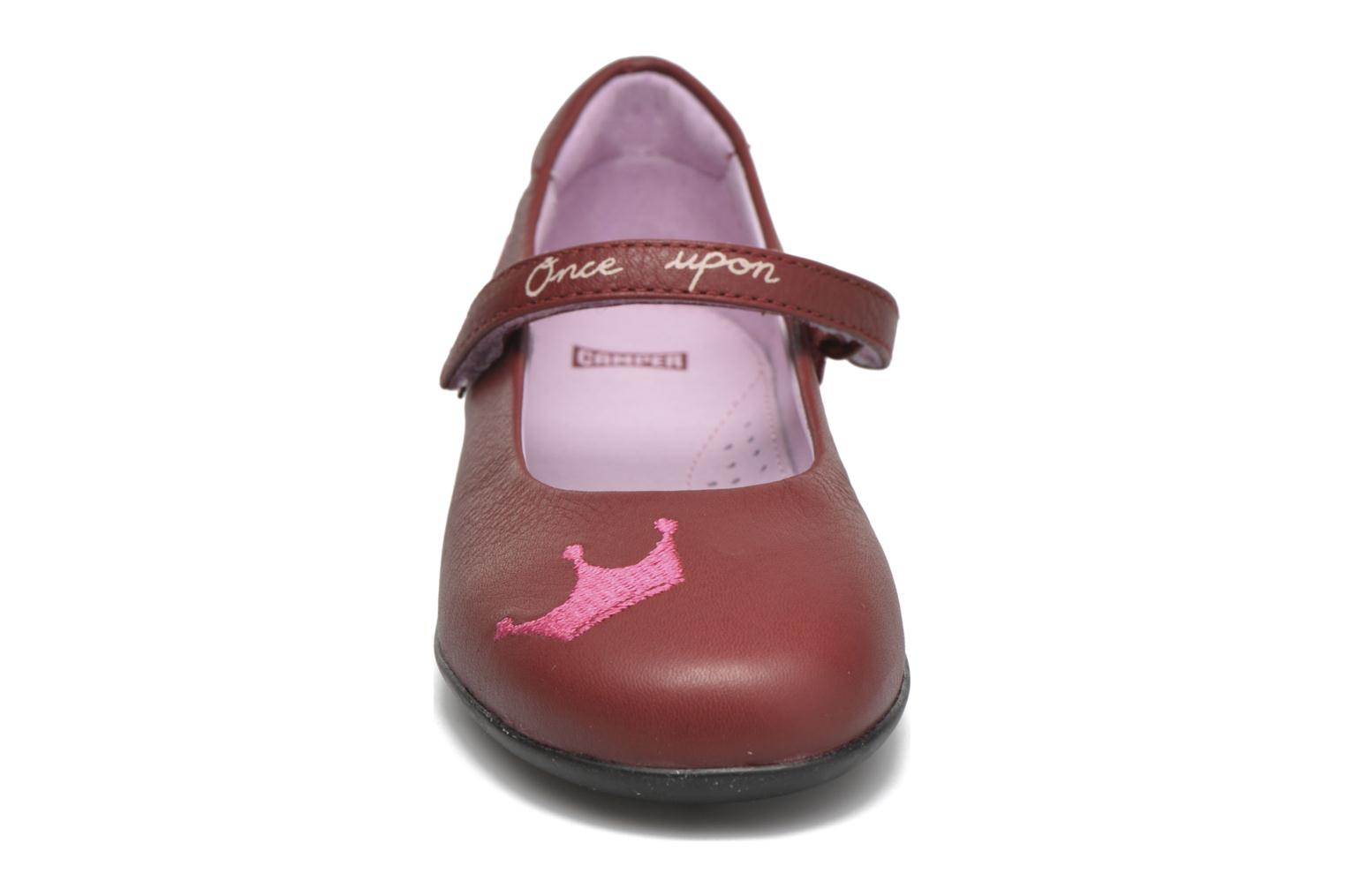 Ballerines Camper TWS Frog Rouge vue portées chaussures
