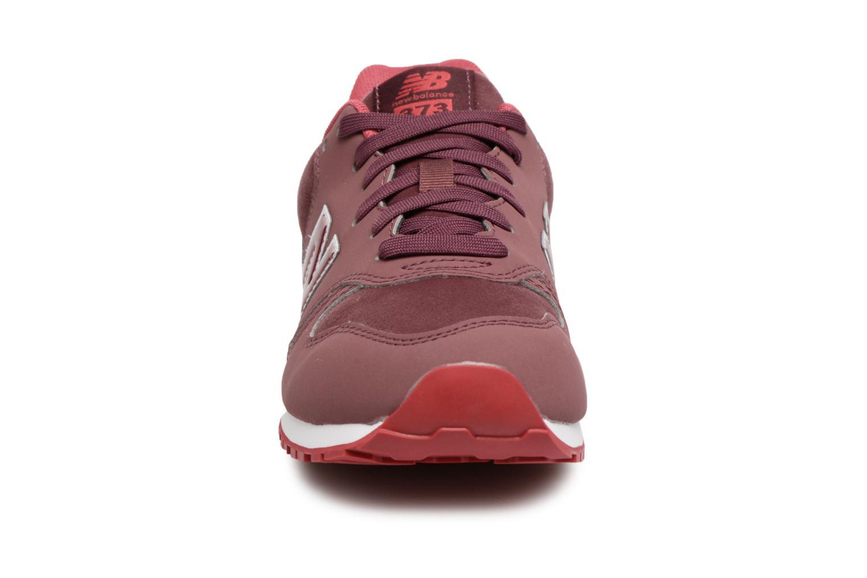 Sneaker New Balance KJ373 J weinrot schuhe getragen