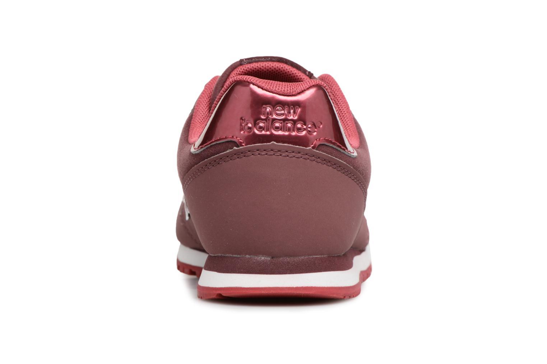 Sneaker New Balance KJ373 J weinrot ansicht von rechts